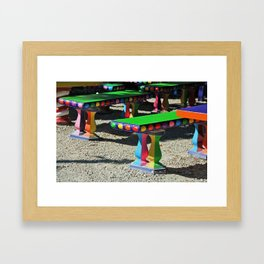 Bright Benches II Framed Art Print