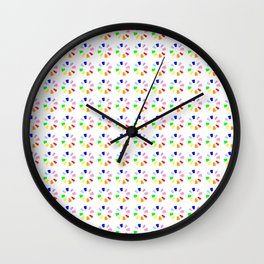 Chromatic circles 2 Wall Clock