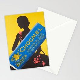 Retro kohler chocmel chocolat au lait Stationery Cards