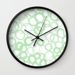 Watercolor Circle Sage Wall Clock