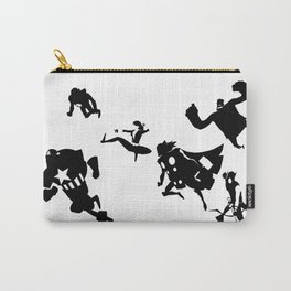 The Avengers Minimal Black and White Carry-All Pouch