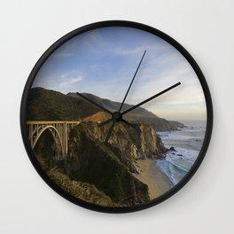 Bixby Bridge at Big Sur Wall Clock