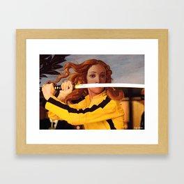 Botticelli's Venus & Beatrix Kiddo in Kill Bill Framed Art Print