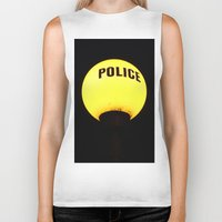 police Biker Tanks featuring police state? by TheEngineered