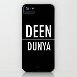 Deen Over Dunya x White iPhone Case