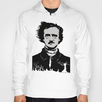 edgar allen poe Hoodies featuring POE by Eric Thorpe-Moscon Designs