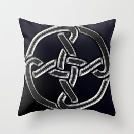Celtic Knot Black Throw Pillow