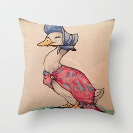 Jemima Puddleduck Throw Pillow