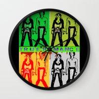 true blood Wall Clocks featuring True Romance by Terrestre