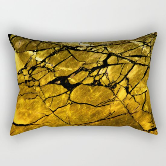 Gold Labradorite Crystal Rectangular Pillow