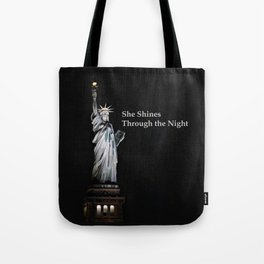 She Shines Through the Night 2 Tote Bag