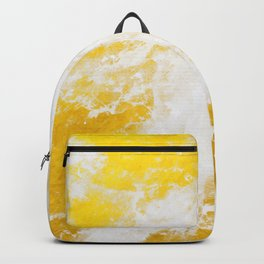 Abstract yellow gold marble Backpack