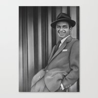 frank sinatra Canvas Prints featuring Frank Sinatra by Richard Andrew