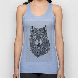 wolf Highly detailed Unisex Tank Top