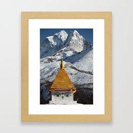 Himalaya - Stupa Gerahmter Kunstdruck