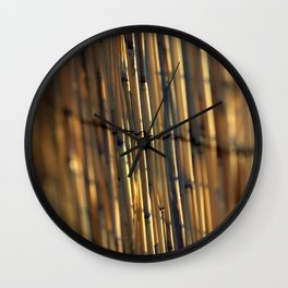 Bamboo Fence Wall Clock