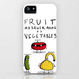Fruit Masquerading as Vegetables iPhone Case