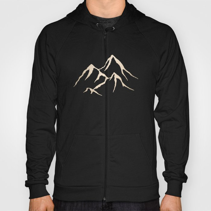 1c2a3663af51 Adventure White Gold Mountains Hoody by naturemagick