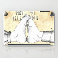 vonnegut iPad Cases featuring Nice to Feet You by Jacob Roost