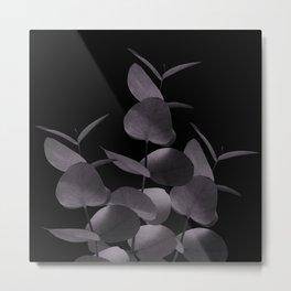 Eucalyptus Leaves Black Black #1 #foliage #decor #art #society6 Metal Print