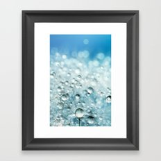 Powder Blue Drops Framed Art Print