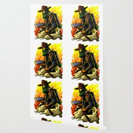 Firefighter Illustration | Fire Brigade Hero Flame Wallpaper
