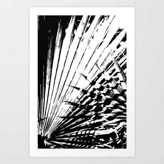 Spiked Palm Art Print