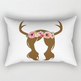 Antler Princess Rectangular Pillow