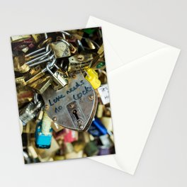 Love Needs No Locks Stationery Cards