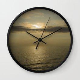 Lake Superior sunset  Wall Clock