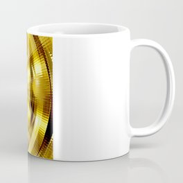 Abstract fantasy painting in gold. Coffee Mug