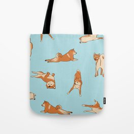 Shiba Inu Print Blue Tote Bag