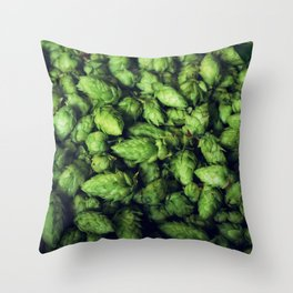 Hops by the bushel. Throw Pillow