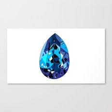 GEMS - blue , shine , single piece Canvas Print