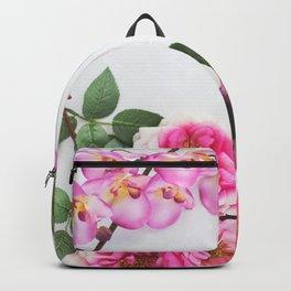 Pink Flowers Backpack