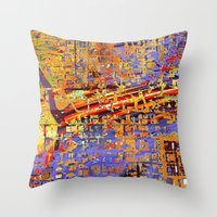 chicago Throw Pillows featuring chicago by donphil