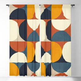 mid century abstract shapes fall winter 3 Blackout Curtain