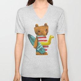 Summer Bear Unisex V-Neck