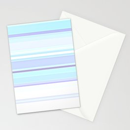Stripes Pastels Oceans are Blue Pattern Stationery Cards