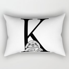 K letter Rectangular Pillow