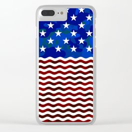 USA (Camouflage) Clear iPhone Case