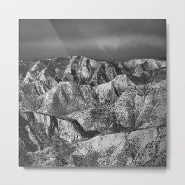 Misty mountains at sunrise. Bad lands. Sierra Nevada Metal Print