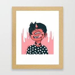 Tar Girl Framed Art Print