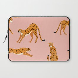 Cheetahs pattern on pink Laptop Sleeve