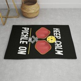 Pickleball Design: Keep Calm And Pickle On I Badminton Tennis Rug