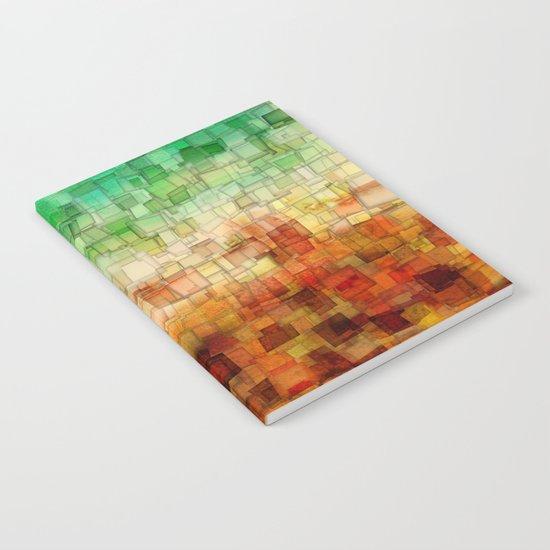 Golden Tide Mosaic Notebook