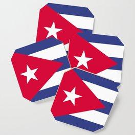 Cuba flag emblem Coaster