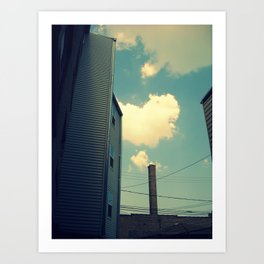 Chicago Clouds and Smokestack Art Print