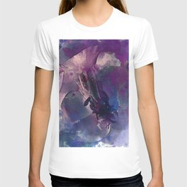 Purple Flower Edited Watercolor T-shirt