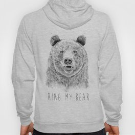Ring my bear (bw) Hoody